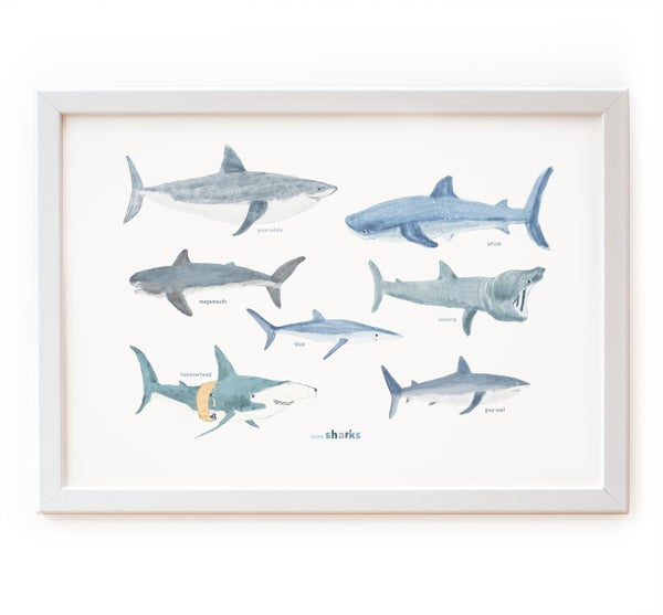 Image of Some Sharks Print