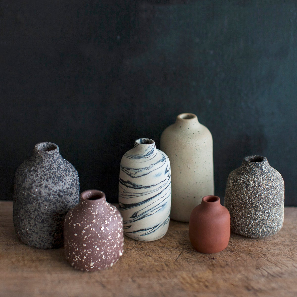 Image of Set of 5 + 1 VIIE VASES