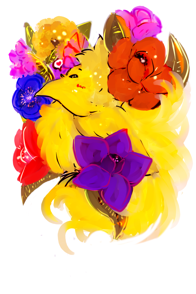 Image of pride chocobo sticker