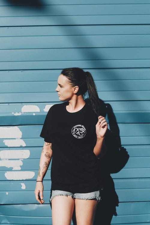 Image of Black & White Crest Tee