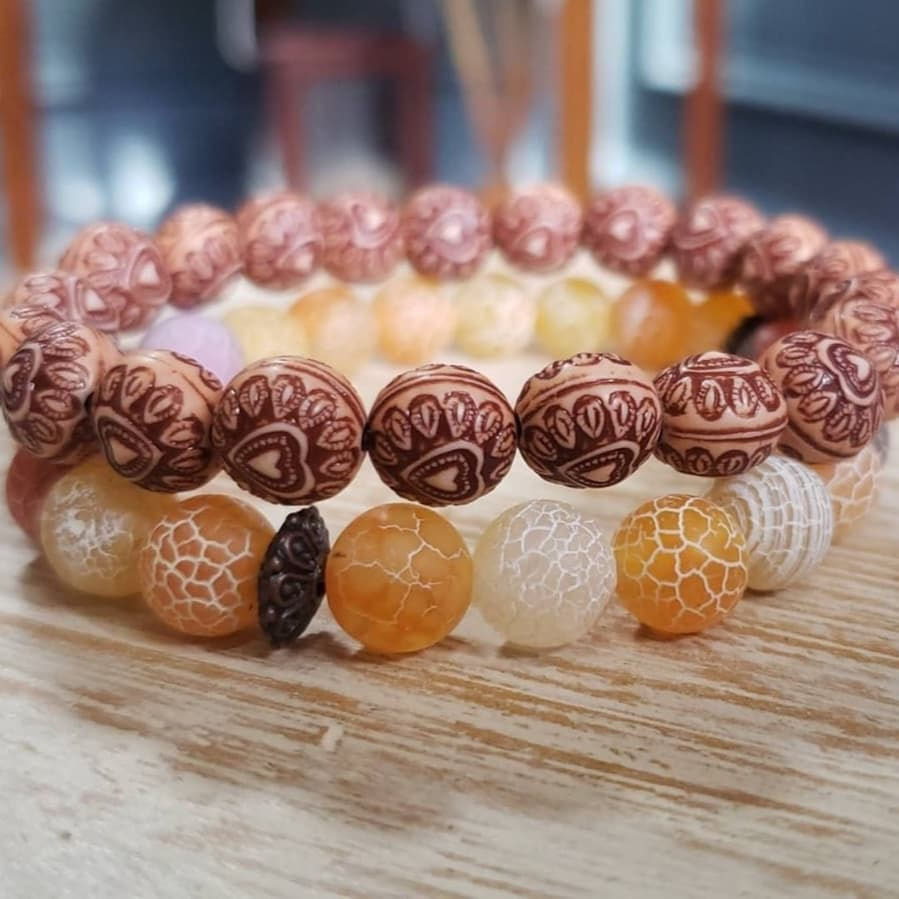 Image of ORANGE SEA STACKER BRACELETS