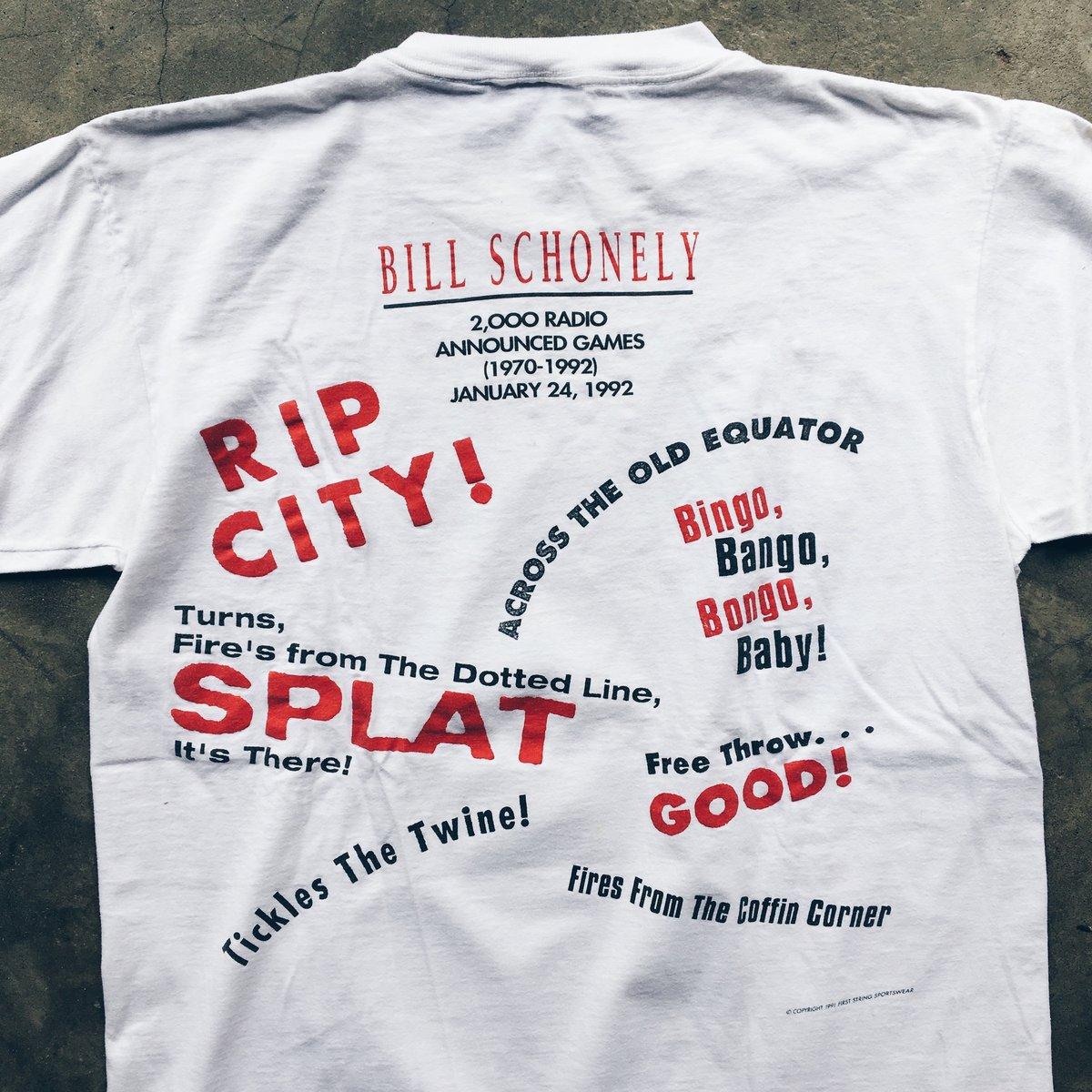 Image of Original 1991 Bill Schonely Rip City Tee.