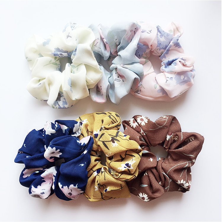 Image of Gift Box Of 5 Unique Upcycled Scrunchies
