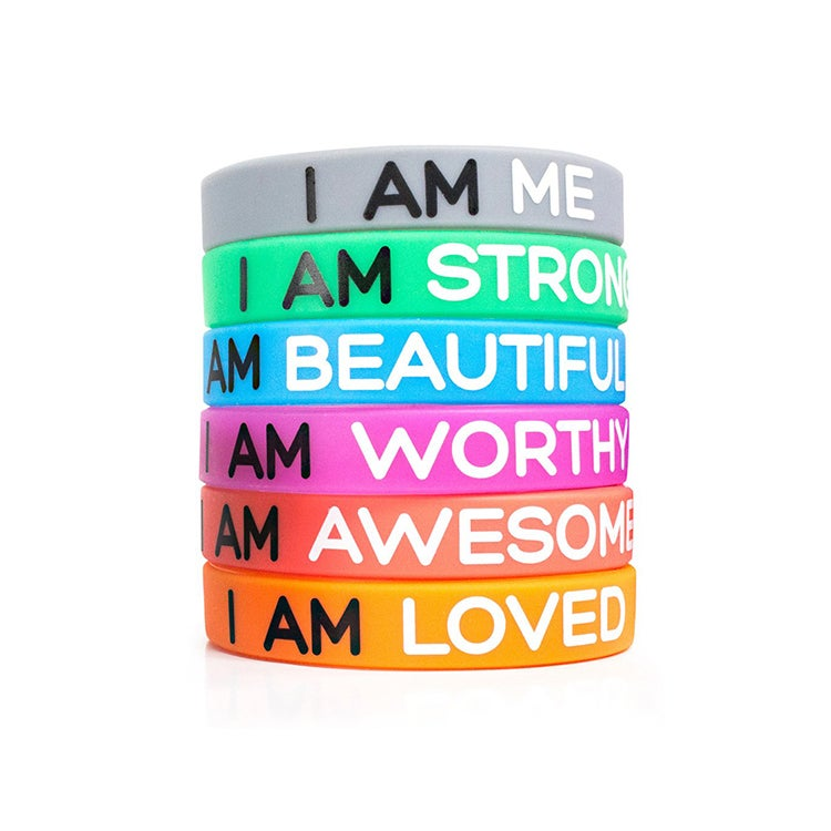 Image of Gift Box of 5 Get Good Karma Wrist Bands