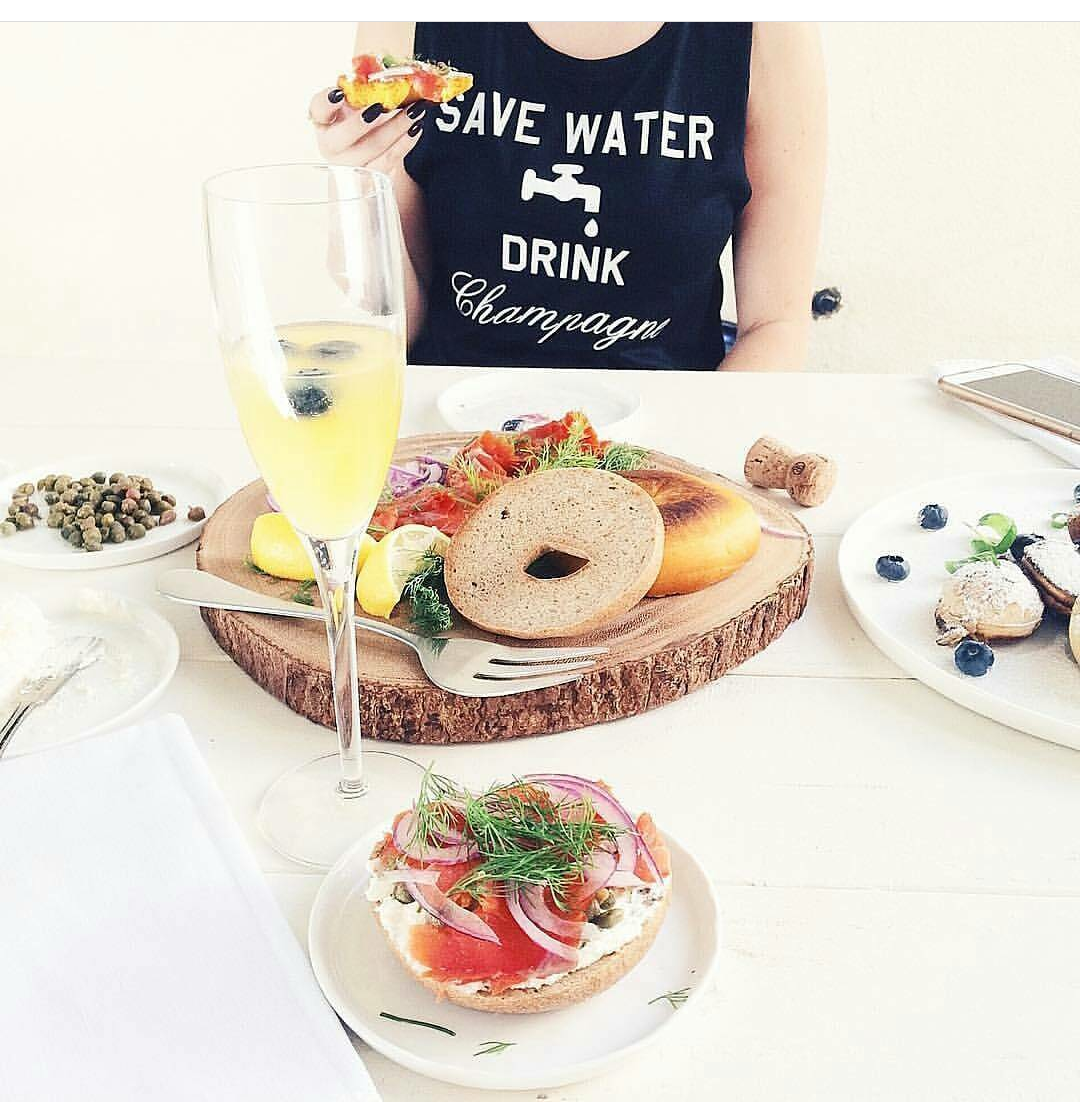 Image of SAVE WATER DRINK CHAMPAGNE muscle tank