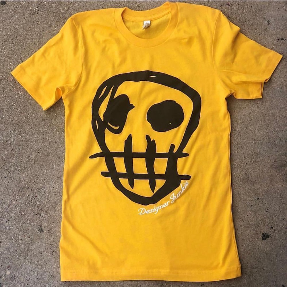 Image of Designer Junkie Apparel Signature Tee ( Gold/Black )