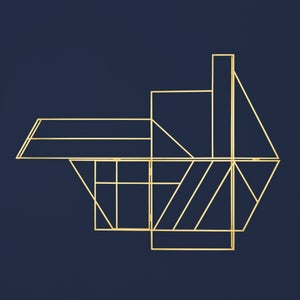 Image of FOLDWORK RACK – brass