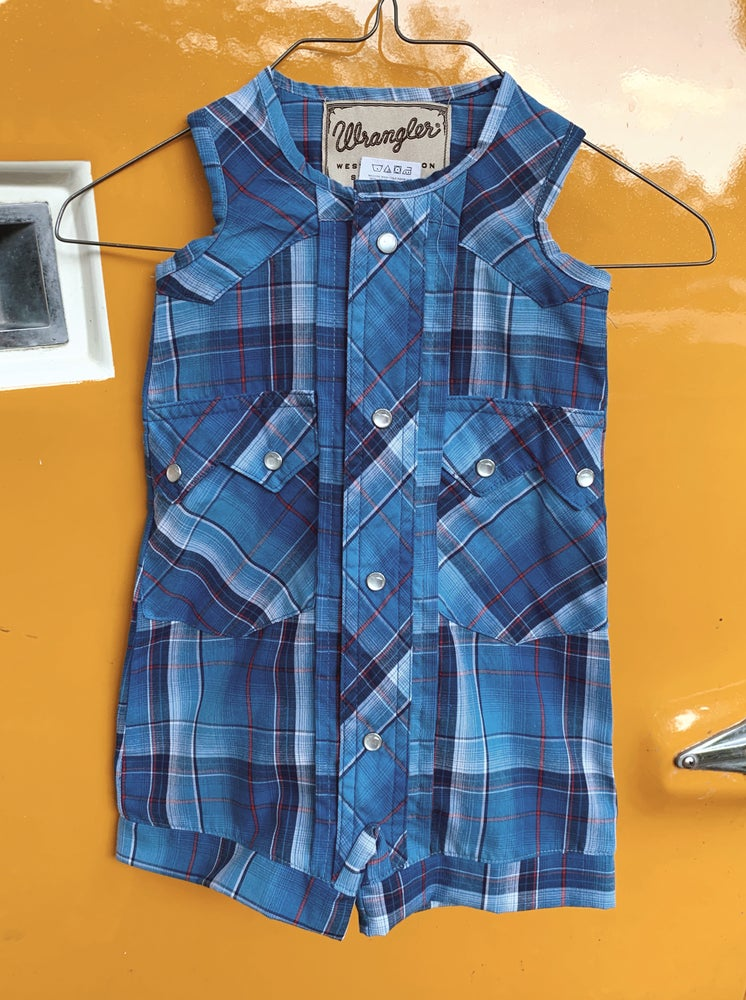 Image of Blue Plaid Wrangler