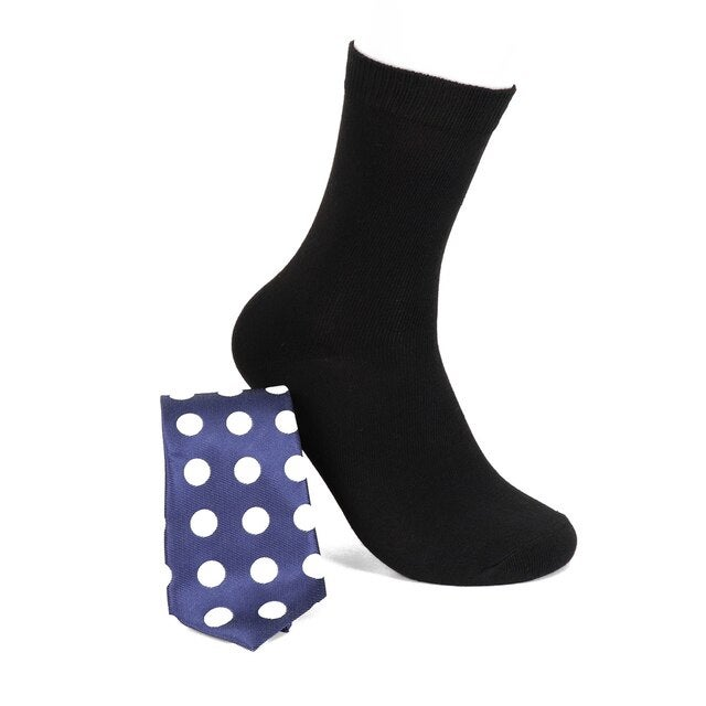 Image of Tie and Matching Dress Socks in a box