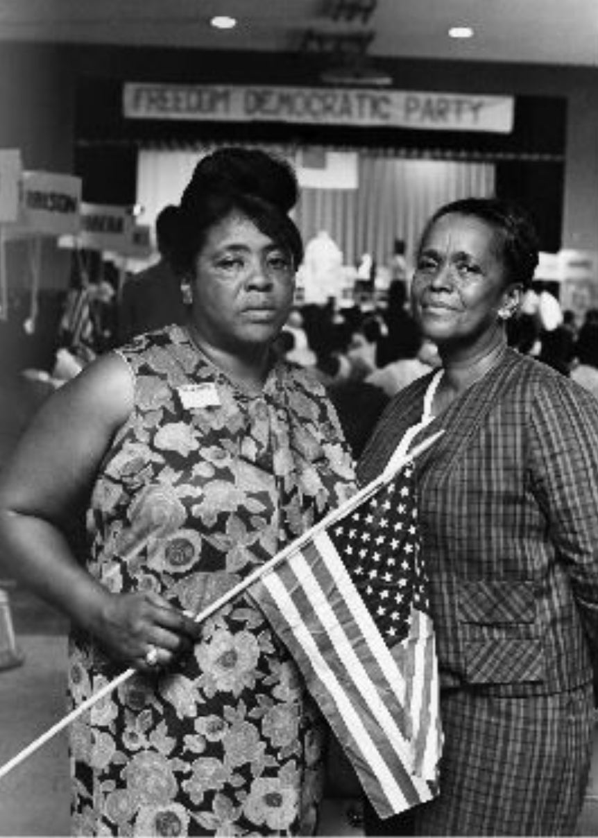 Image of FANNIE LOU & ELLA BAKER WITH FANNIE LOU QUOTE ON THE BACK