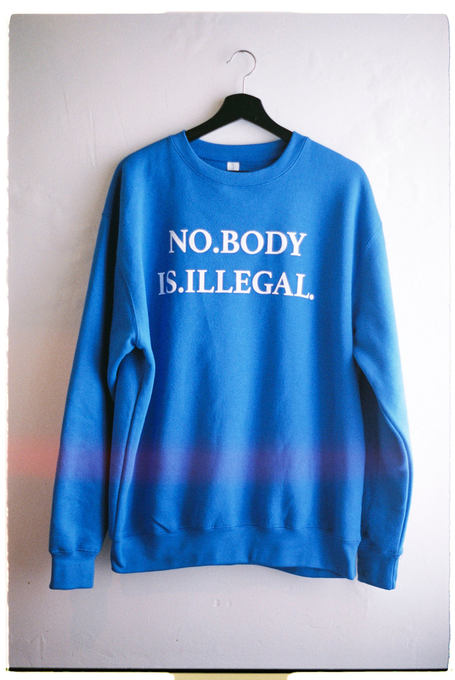 Image of NO BODY IS ILLEGAL [Body Politic Crew Sweater v2]