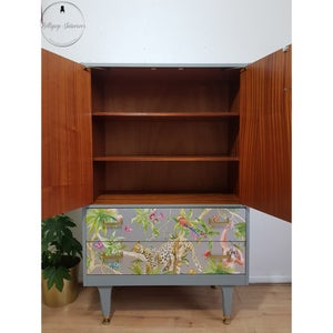 Image of G plan linen cupboard in sage