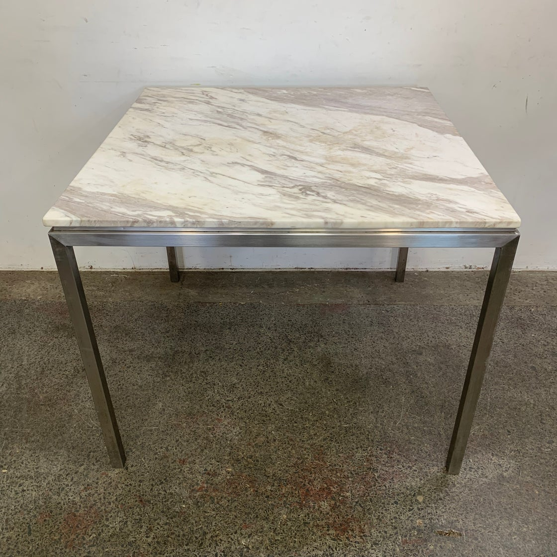 Image of MARBLE TOP DINING TABLE