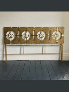 Image of Brass Headboard by Luciano Frigerio