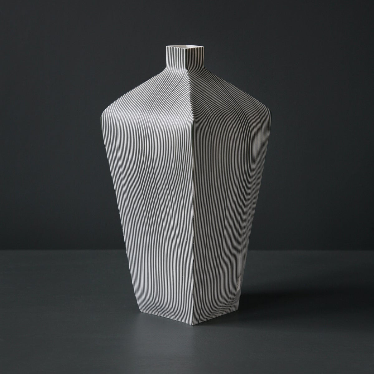 Image of Large Tapered Stripe Vessel by Justine Allison.