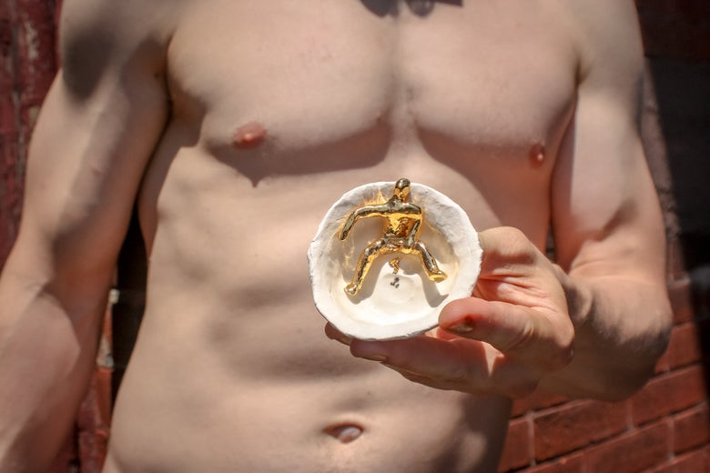 Image of Salt Cellar with Self-Love Goldfucker