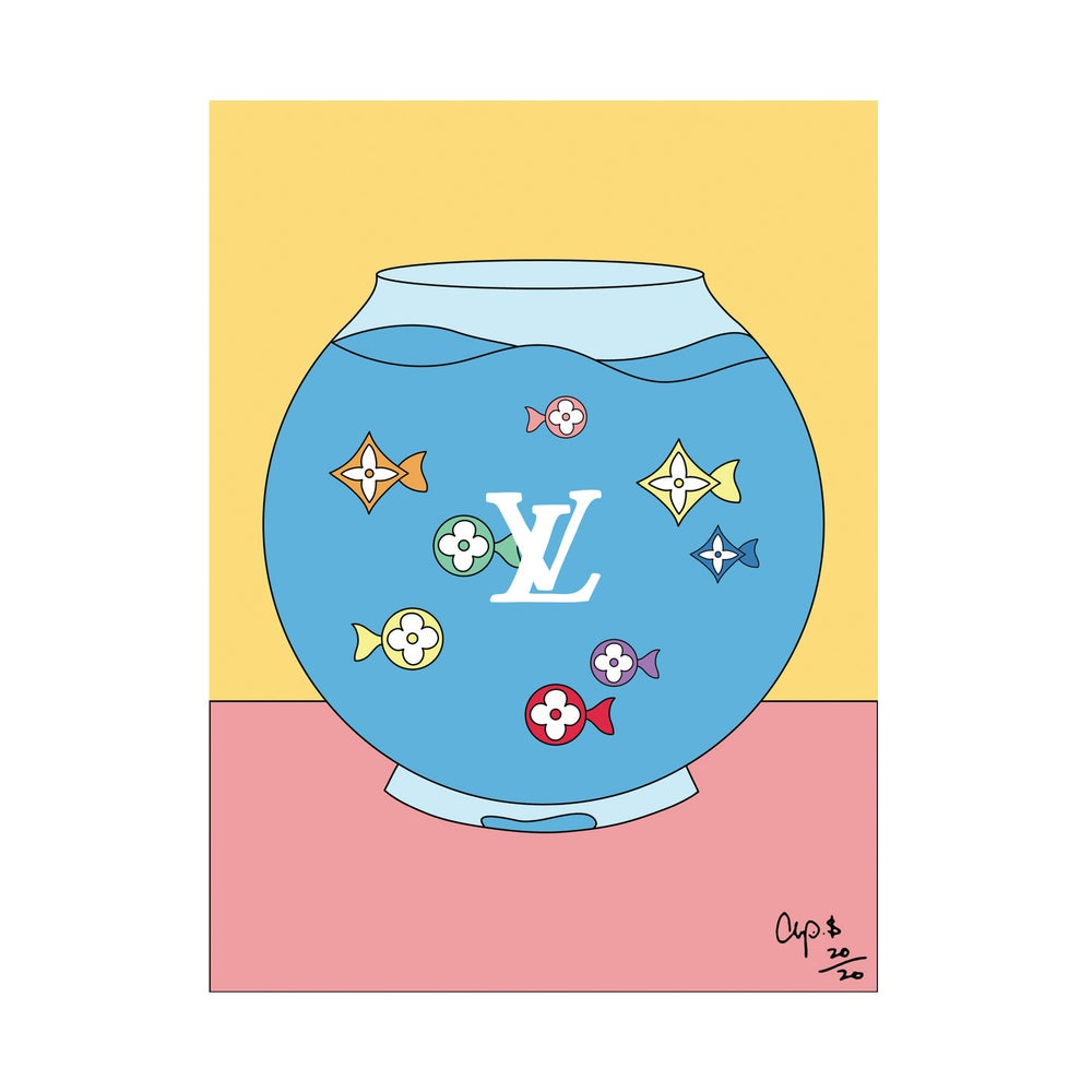 Image of LV Multi Color Fish Bowl