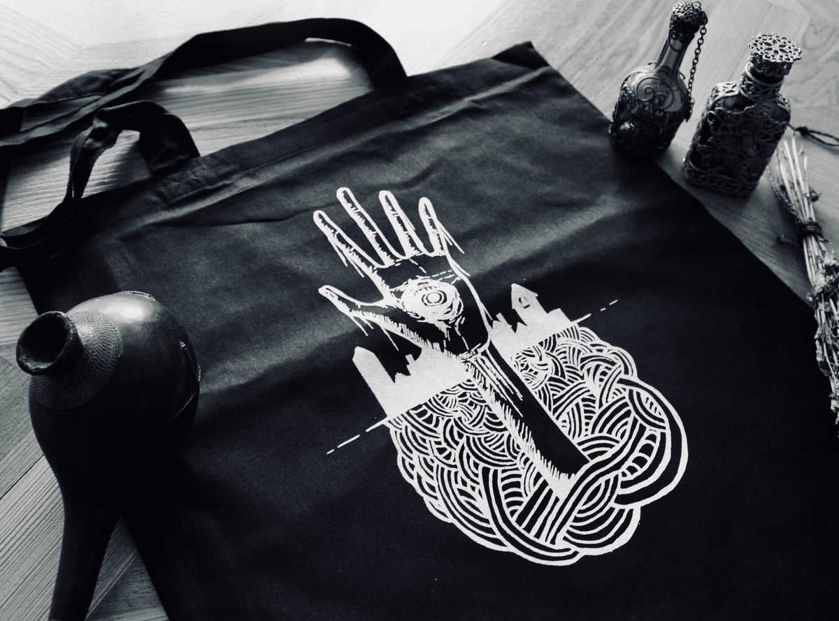 Image of LIVING DEAD - tote bag - black