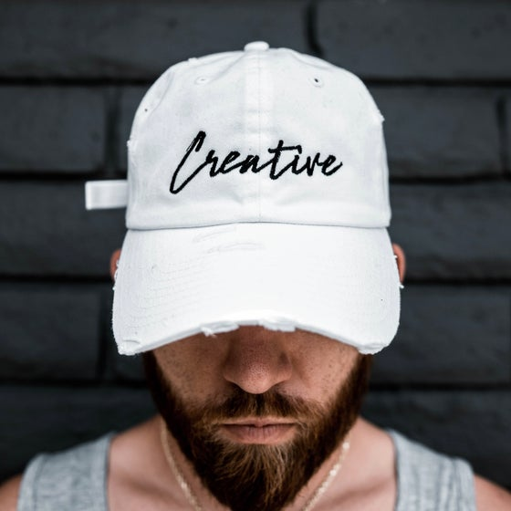 Image of Creative White Dad Hat