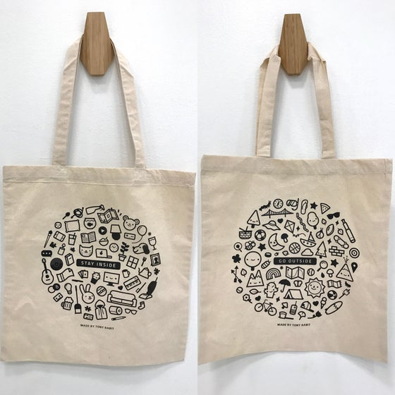 Image of GO OUTSIDE or STAY INSIDE Tote Bag