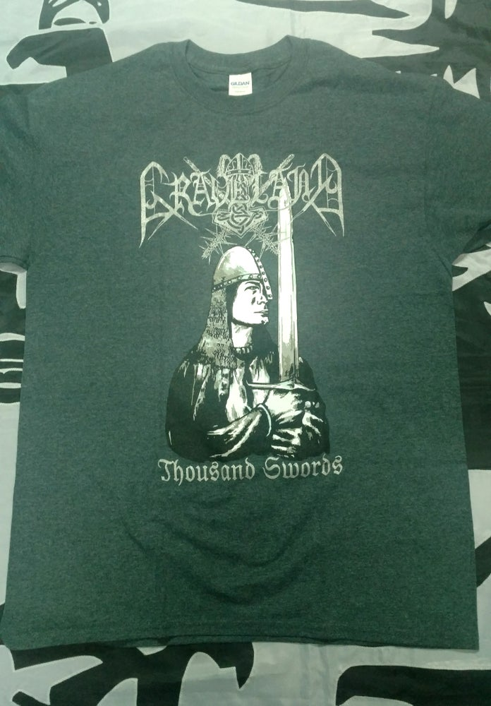 "Image of GRAVELAND ""Thousand Swords"" (Grey) t-shirt"