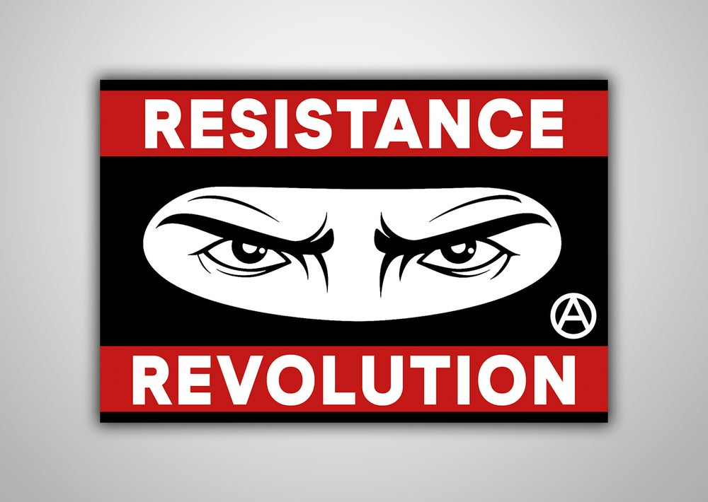 "Image of 100 Autocollants ""RESISTANCE REVOLUTION"""