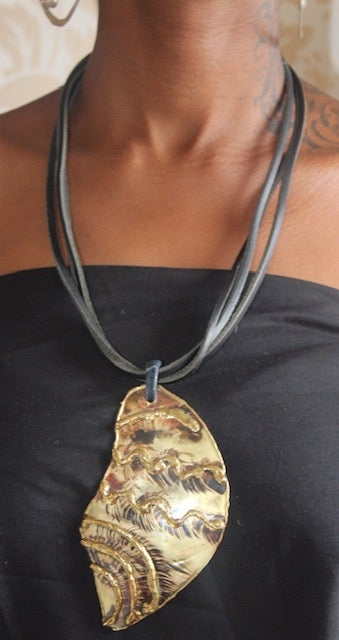 Image of Brass shell necklace