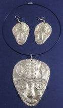Large masked choker and earring sets 1