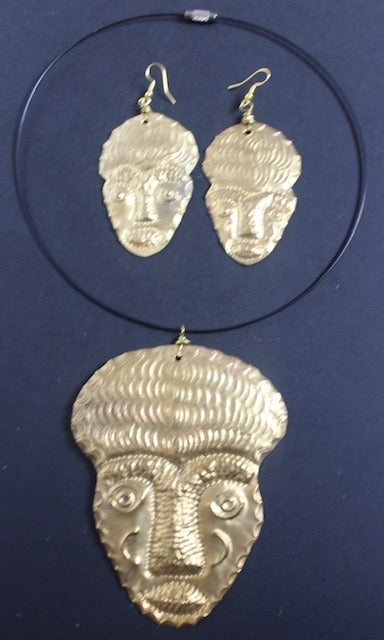 Image of Large masked choker and earring sets 1