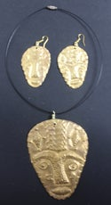 Large masked choker and earring sets 2