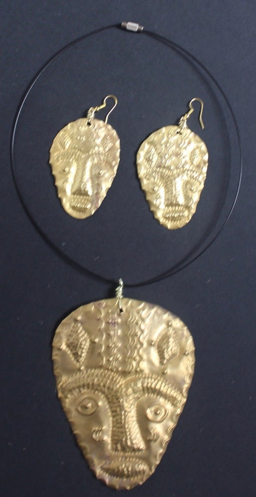 Image of  Large masked choker and earring sets 2