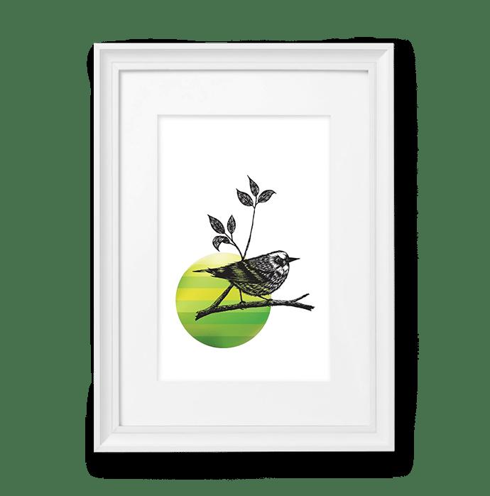 Image of Green / Yellow Bird #1
