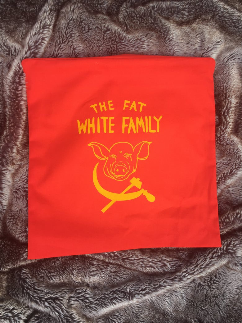 Image of Fat White Family Official Bootleg Canvas Cushion Cover