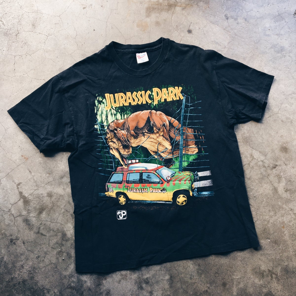Image of Original 1993 Made In USA Jurassic Park Tee.