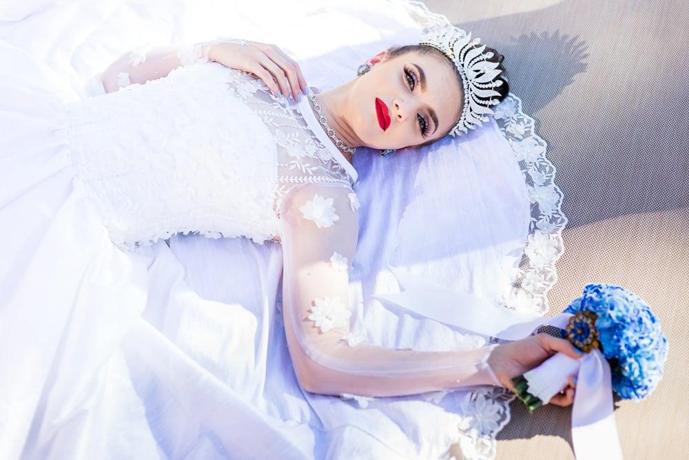 Image of Barely Baby Blue Wedding Dress