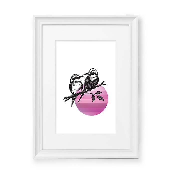 Image of Pink / Yellow Bird #5