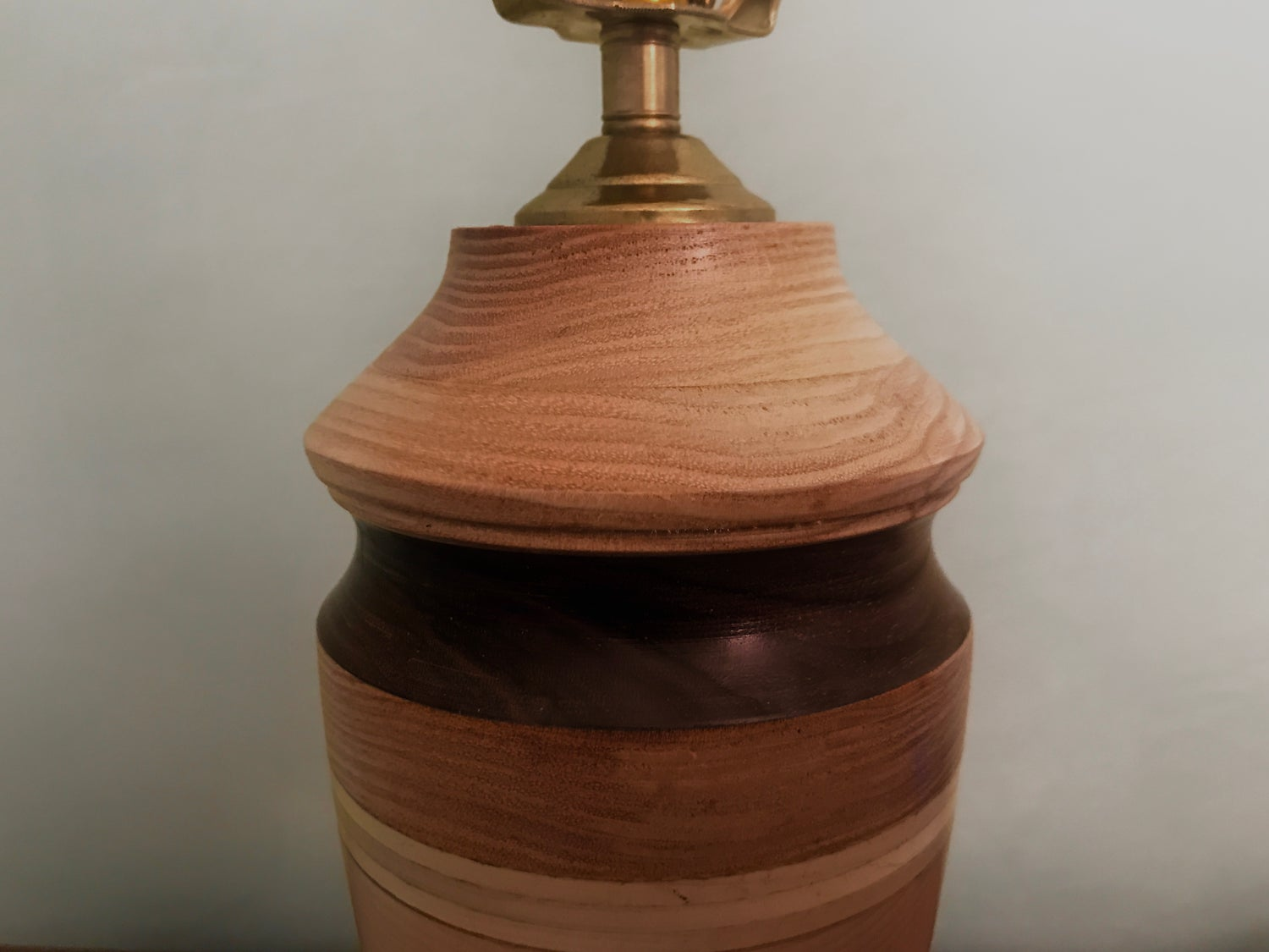 "Image of Handcrafted Turned And Laminated Lamp.  ""Colesville"""