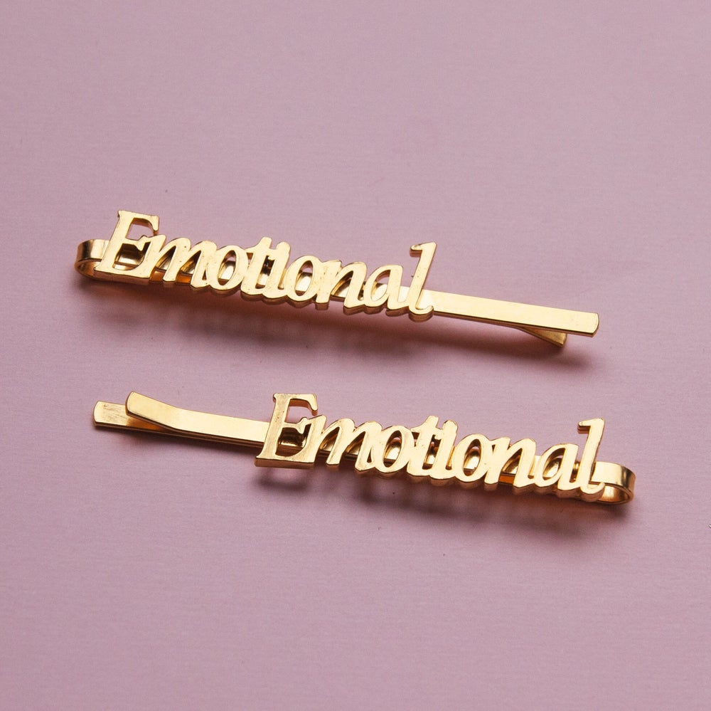 Image of EMOTIONAL NAMEPLATE BOBBY PINS