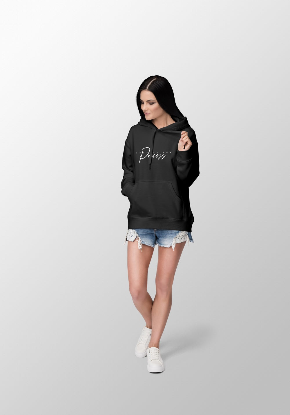 """Image of """"Embrace the Process"""" Women's Black Hoodie"""