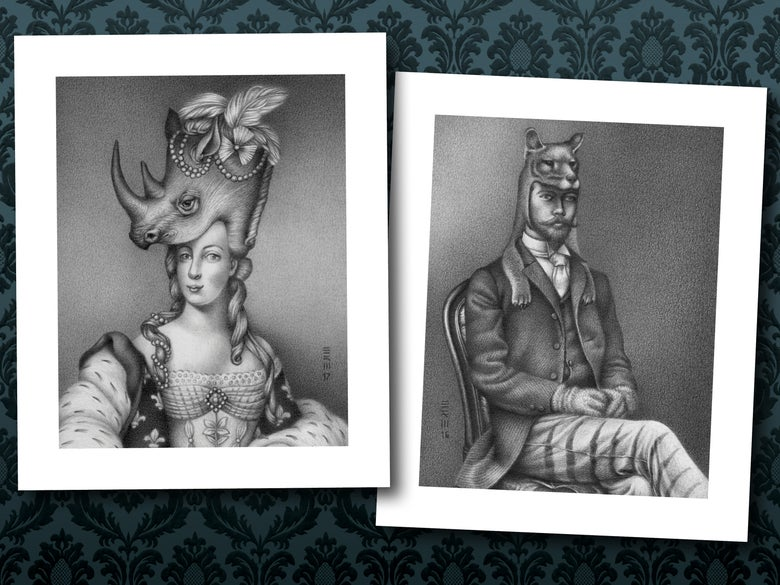 Image of Dead Monarch Masquerade, Set of 2
