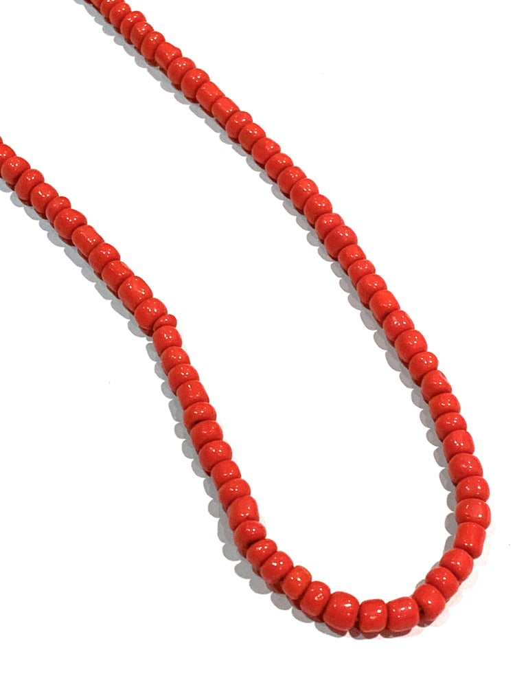 Image of Vintage Red Trade Beads Necklace