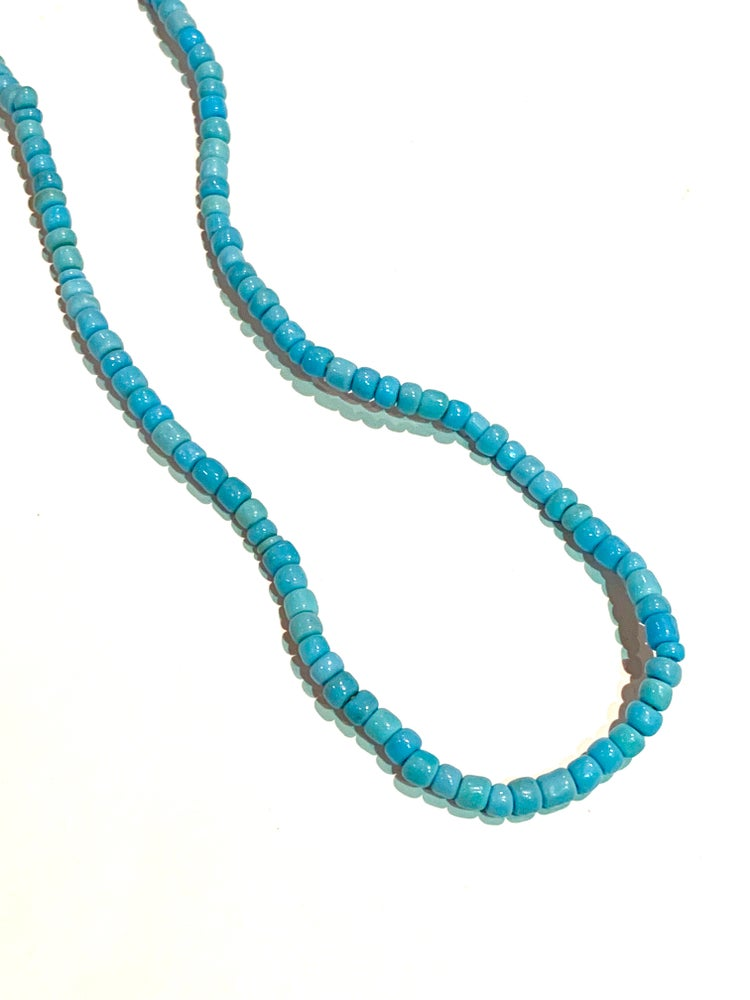 Image of Vintage Sky Blue Trade Beads Necklace