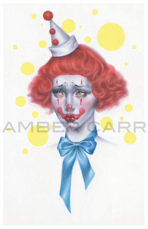 "Image of Sad Clown No. 1 Print 11"" x 17"""