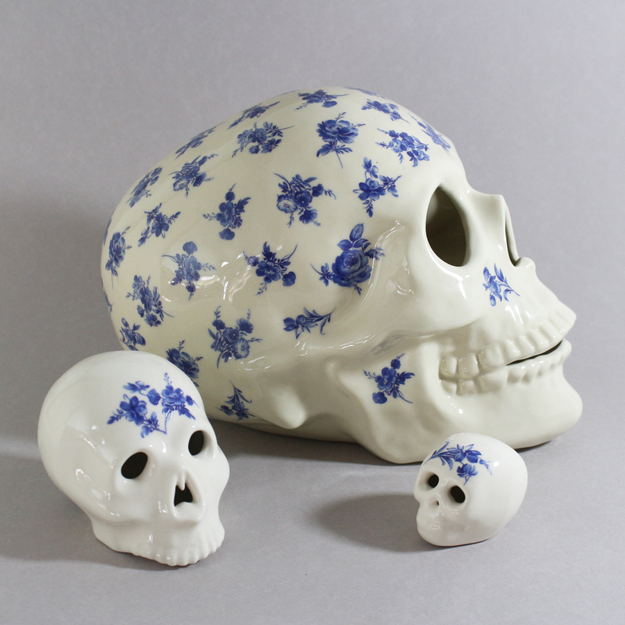 Image of Blue Skull Series- small medium large- pick your favourite- from $150.