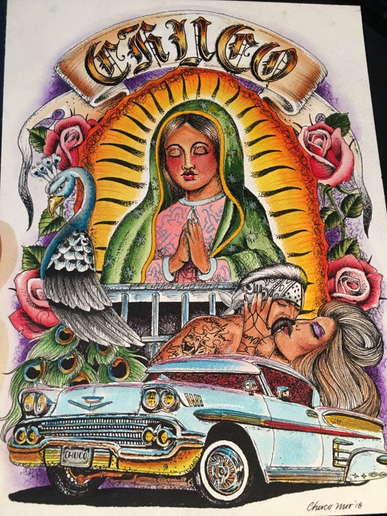 Image of Chuco's Original Teen Angel Style Drawing