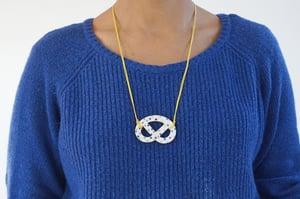 Image of Lilac Burst – Ceramic Pretzel Necklace