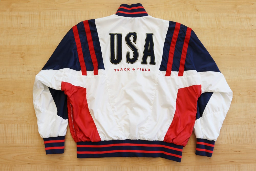 Image of Vintage 1990's Nike Air USA Track & Field Windbreaker Jacket Sz.XL