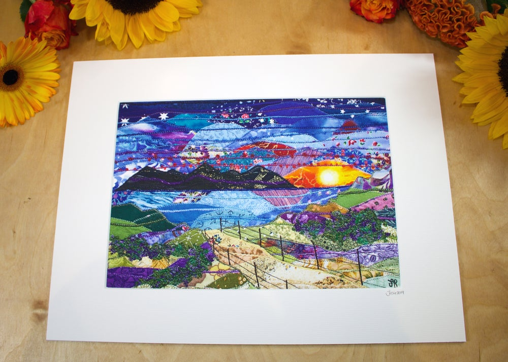 Image of Sunset over Llyn Print