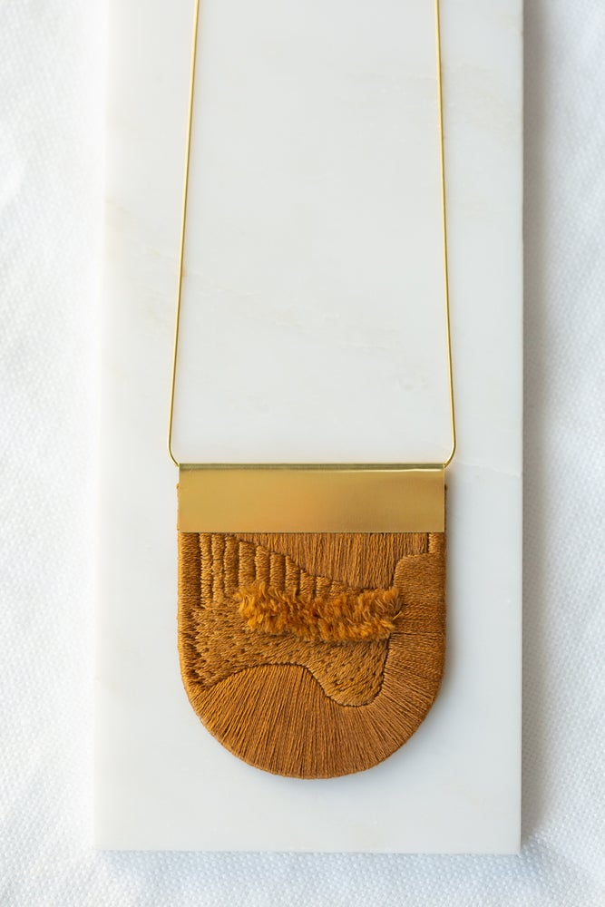 Image of LUXE pendant in Tobacco