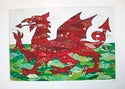 Welsh dragon print